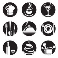 Restaurant icon set N11