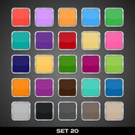 Set Of Colorful App Icon Templates Frames Backgrounds N3