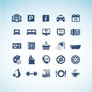 set of Hotel icons N5