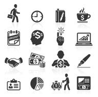 Business management and human resources icons N2