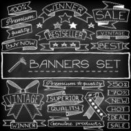 Doodle banners and tags