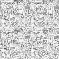 seamless doodle communication pattern N4