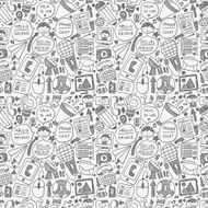 seamless doodle communication pattern N5