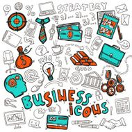 Business icons doodle sketch N2