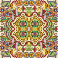 Vector floral geometric seamless pattern ethnic ornament N4