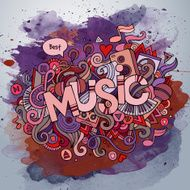 Music hand lettering and doodles elements N2