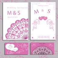 Wedding of set invitation and cards
