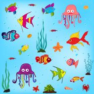 sea animals and fishes