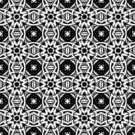 Vector Seamless Vintage Black and White Lace Pattern N15