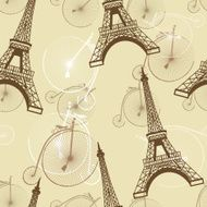 pattern with the Eiffel Tower N2