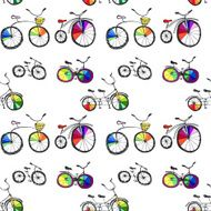 Bicycle seamless pattern N3