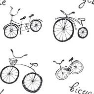 Bicycle seamless pattern N4