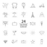 Vacation doodle icon set N2