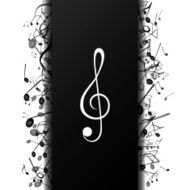Vector Background with Music Notes N15