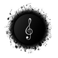 Vector Background with Music Notes N16