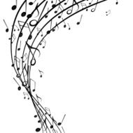 Vector Background with Music Notes N17
