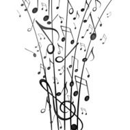 Vector Background with Music Notes N18