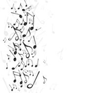 Vector Background with Music Notes N19