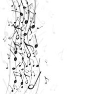 Vector Background with Music Notes N20