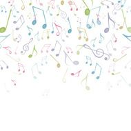 Vector Background with Music Notes N21