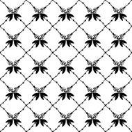 Texture with hand drawn floral arrows Elegant seamless pattern