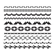 Borders and lines for design Vector horizontal geometric elements