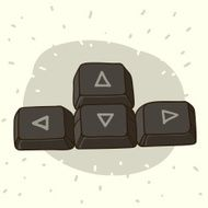 Keyboard buttons with arrows