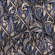 Abstract hand-drawn pattern waves background N3