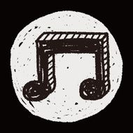 music note doodle drawing N27