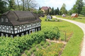 miniature houses at park, germany, cunewald