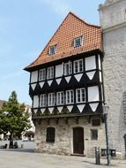 Old timber framed building in Braunschweig