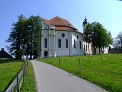 exterior design of the pilgrimage church in Wies