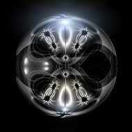 abstract light ball