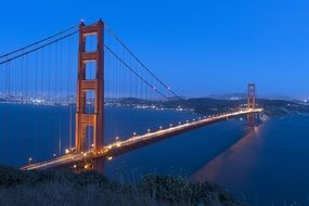 bridge golden gate harbor night view