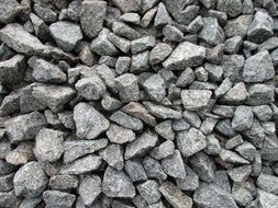 grey crushed stones