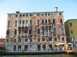 building on the seafront of Venice