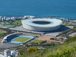 stadium distant view cape town south africa