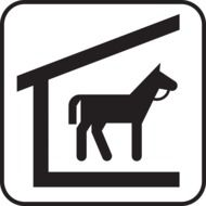 Sign of horse stables
