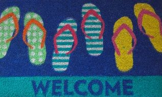 colorful doormat