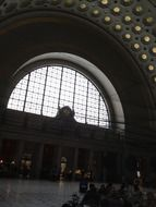 arched architecture at the union station, Washington DC