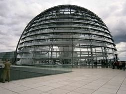 glass dome in Berlin, Germany