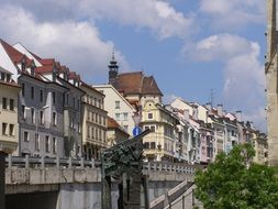 panoramic view of the old town in bratislava