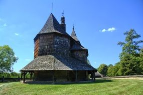 Wooden church in the open-air museum
