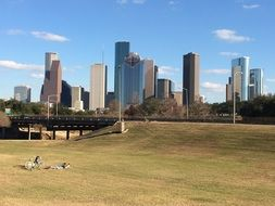 Buffalo bayou park in Houston