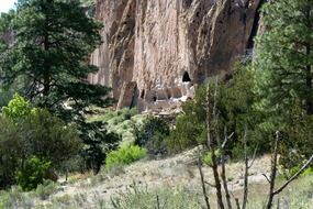 cliff dwelling in New Mexico