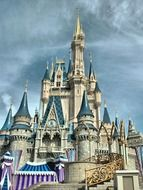 Beautiful castle from fairytale