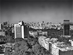 black and white photo of Istanbul city view