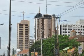Landscape of the downtown of Kenya