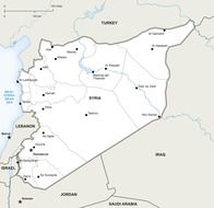 political map syria picture geography