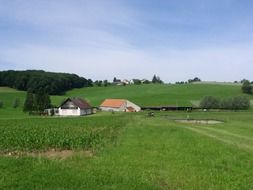 Rural landscape view of germany